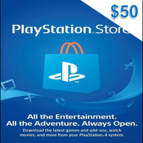 Playstation Network $50 (US)