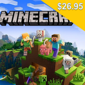 Minecraft (for PC/Mac $26.95)