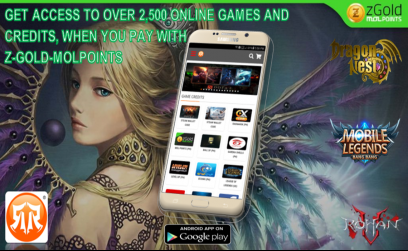 Purchase zGold-MOLPoints now and topup your favorite online games
