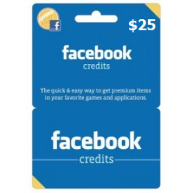 Facebook Game Card $25 (US)
