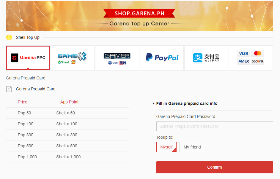 Garena Shells 500 (PH)